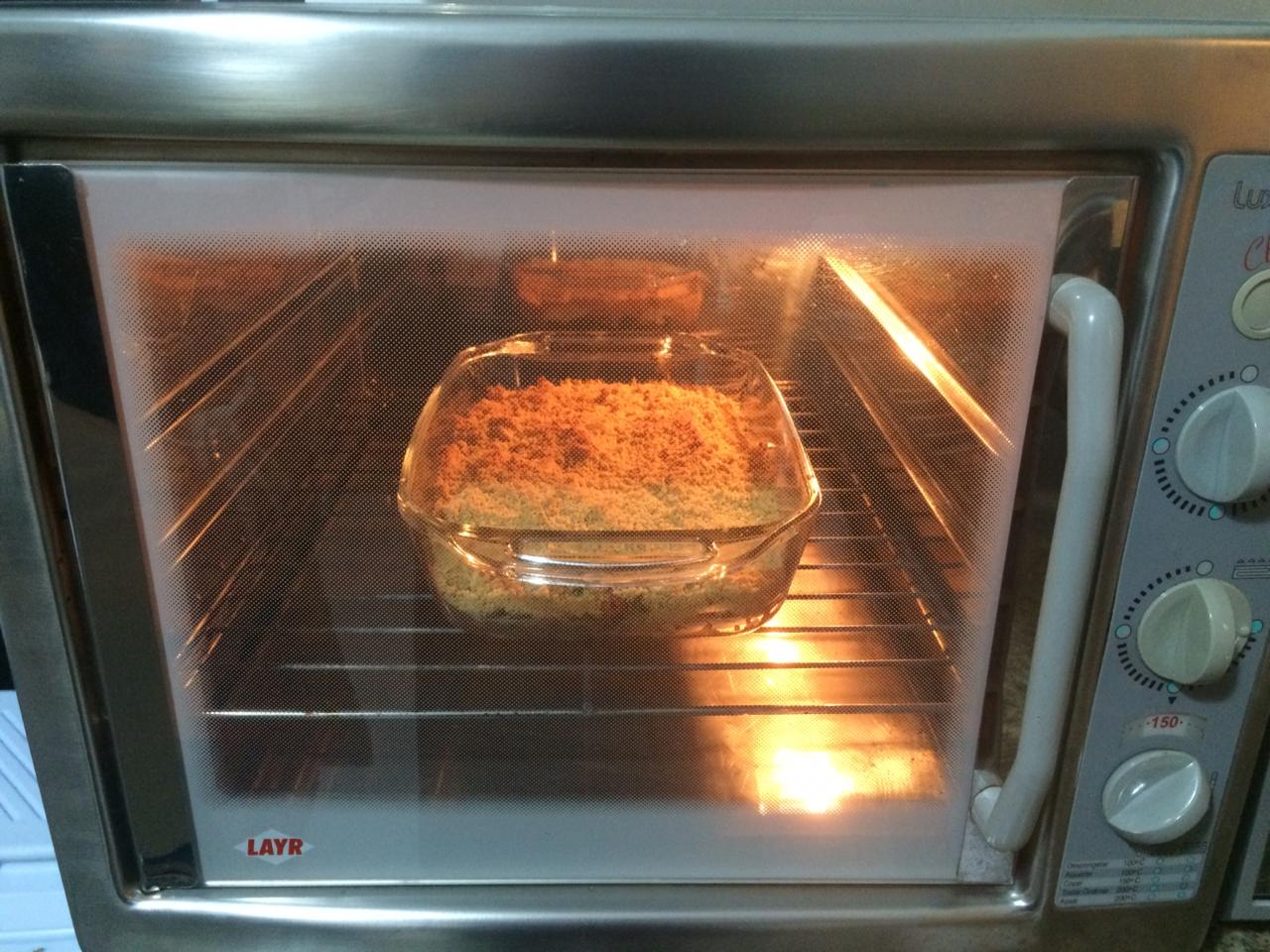 Crumble no forno